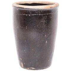 Large 19th Century, Chinese Pickling Jar