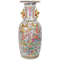 Large 19th Century Chinese Rose Medallion Vase