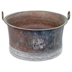 Large 19th Century Copper Cooking Vessel