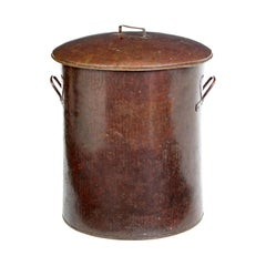 Large 19th Century Copper Milk Vessel