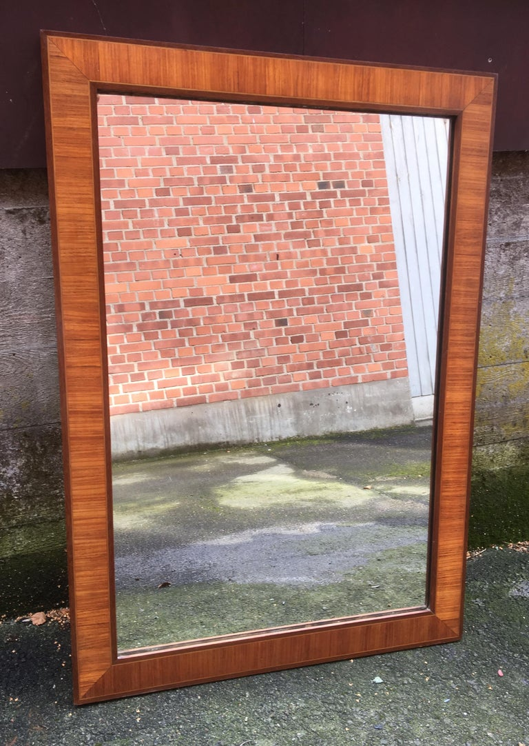 Large 19th Century Danish Inlaid Biedermeyer Wall or Floor Mirror For Sale 9
