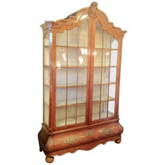 Large 19th Century Dutch Marquetry Showcase / Display Cabinet