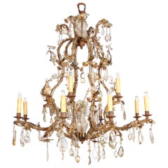 Large 19th Century Early Bagues Chandelier, Paris