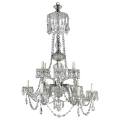 Large 19th Century English Cut-Glass Chandelier