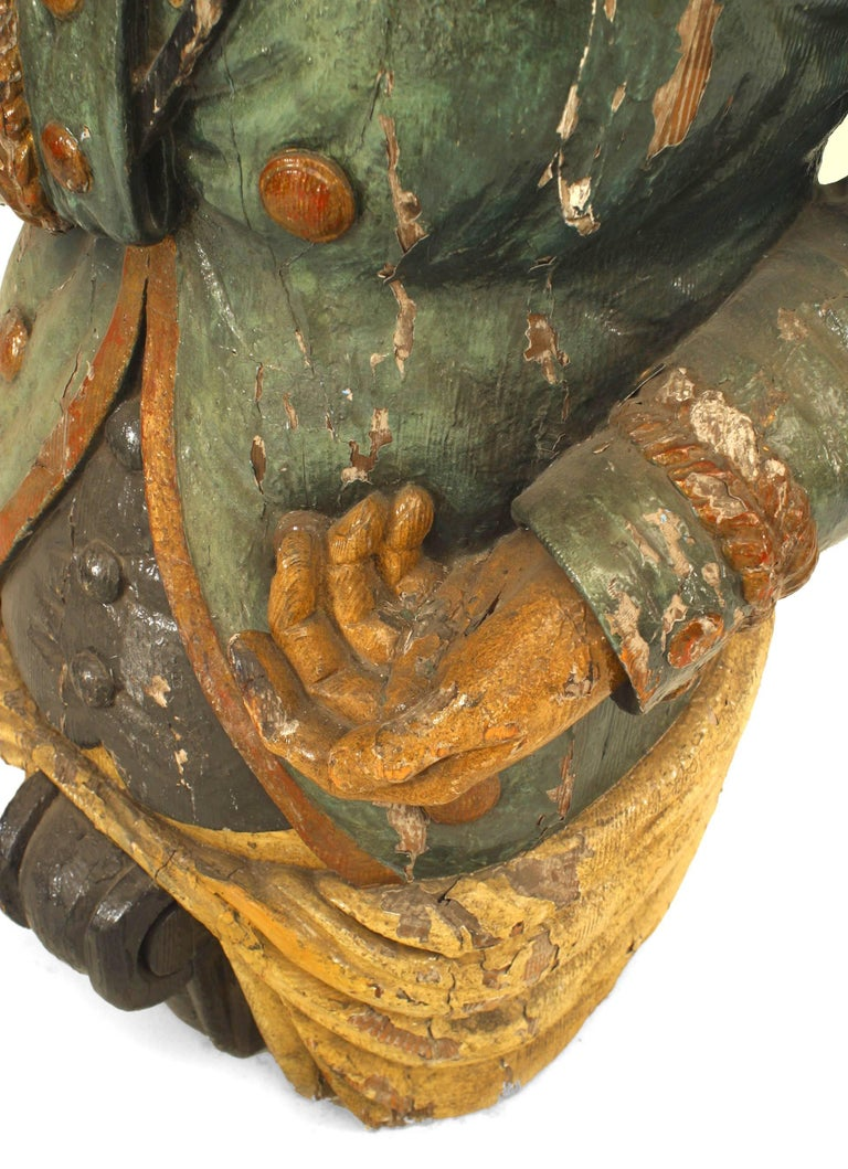 Large 19th Century English Lord Nelson Figurehead For Sale 7