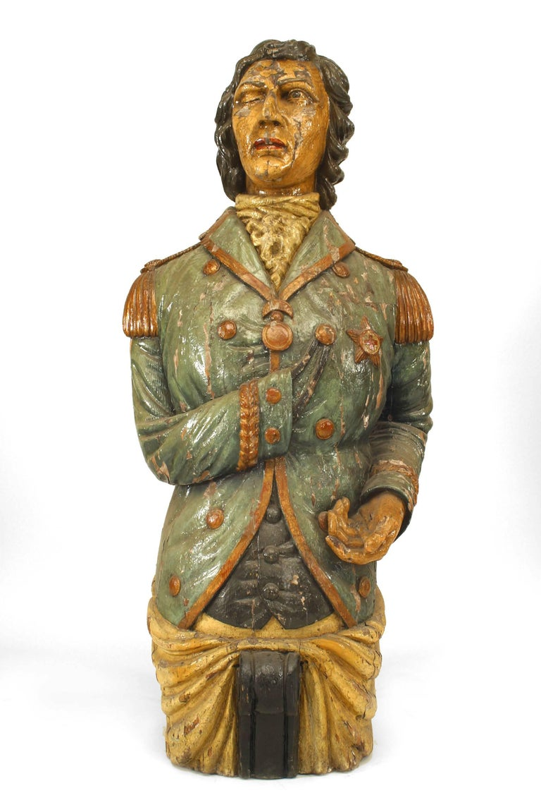 Victorian Large 19th Century English Lord Nelson Figurehead For Sale