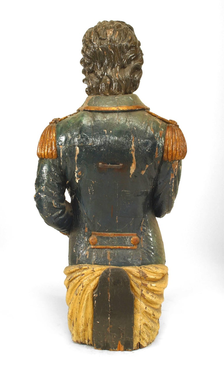Large 19th Century English Lord Nelson Figurehead For Sale 1