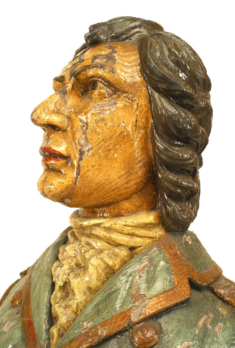 Large 19th Century English Lord Nelson Figurehead For Sale 2