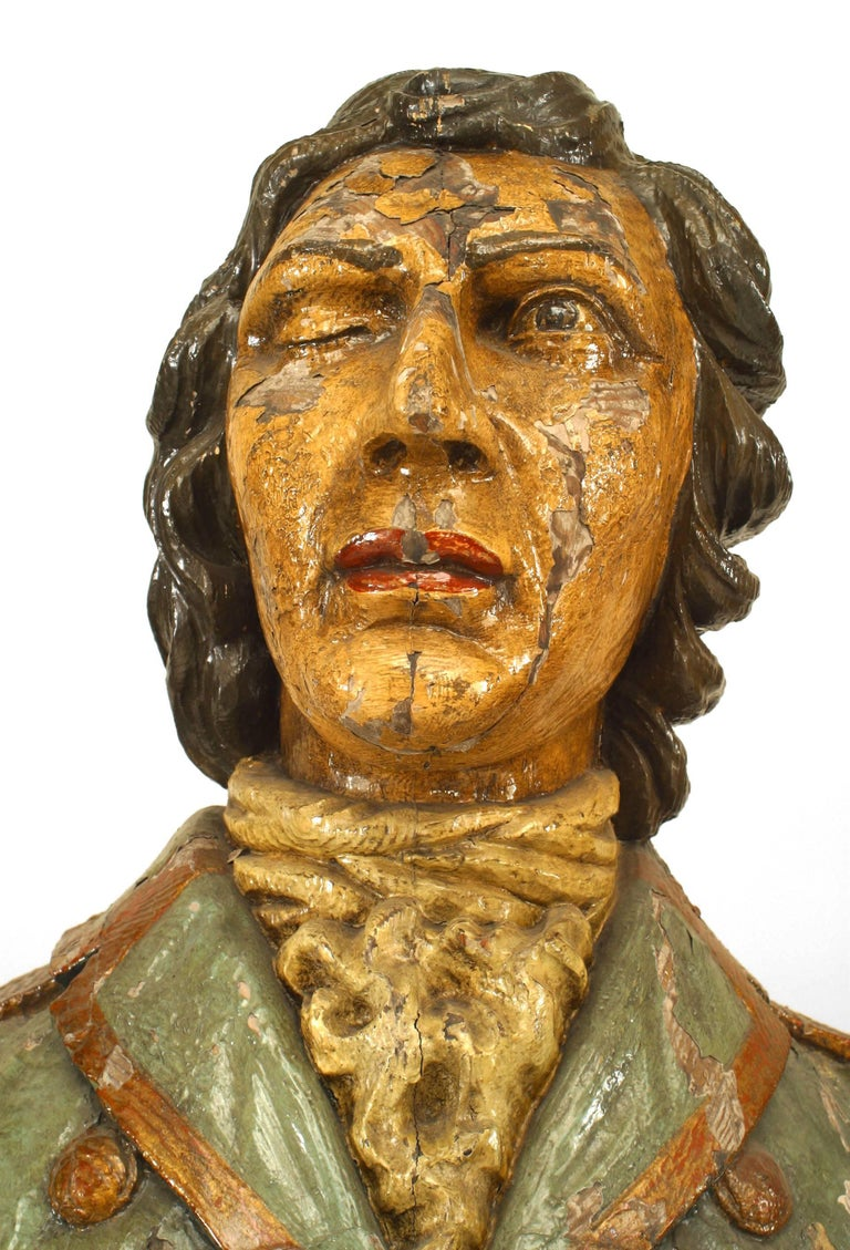 Large 19th Century English Lord Nelson Figurehead For Sale 3