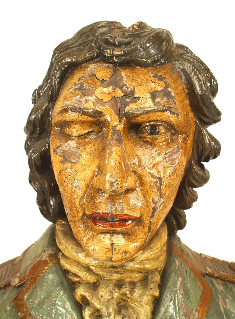 Large 19th Century English Lord Nelson Figurehead For Sale 4