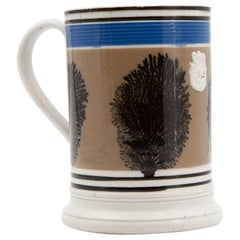 Large 19th Century English Mochaware Mug
