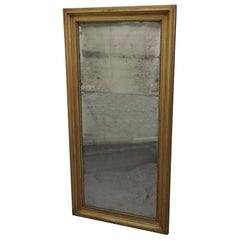 Large 19th Century Framed Distressed Wall Mirror