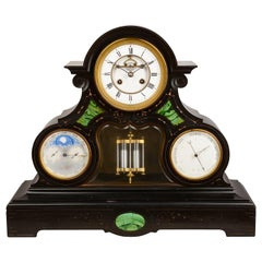 Large 19th Century French Calendar Clock