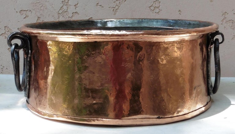 Late 19th Century Large 19th Century, French Copper Pie Platter Pan For Sale
