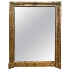 Large 19th Century French Empire Giltwood Mirror