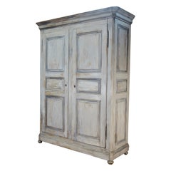Large 19th Century French Painted Armoire