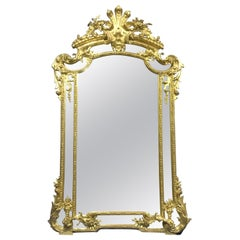 Large 19th Century French Regency Style Gilt Mirror