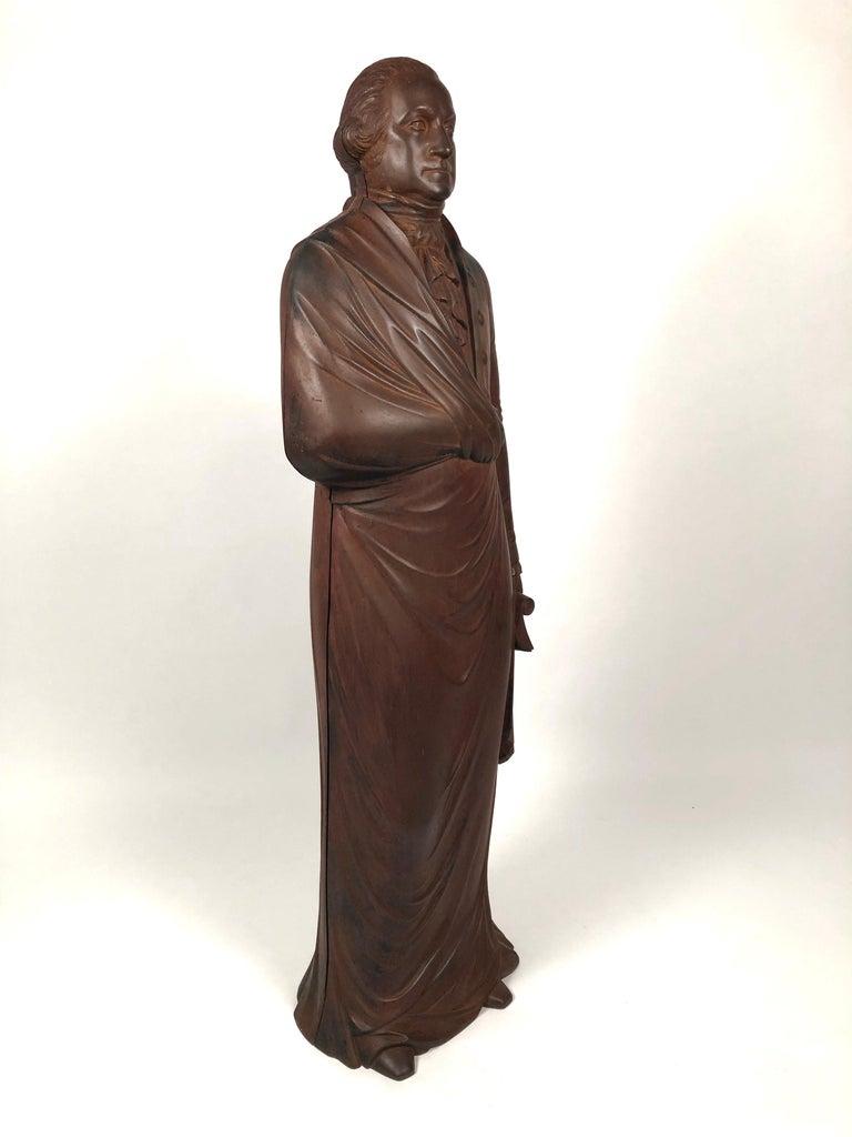 American George Washington Cast Iron Stove Figure, circa 1840s For Sale