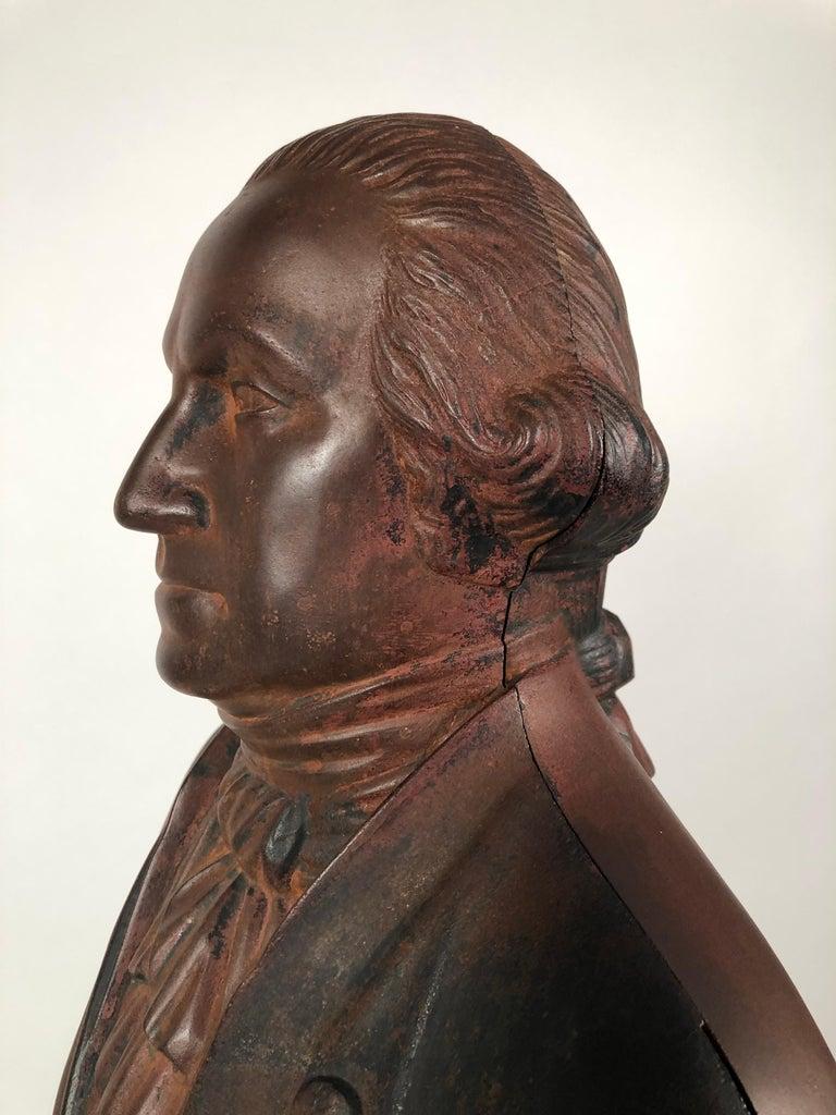 George Washington Cast Iron Stove Figure, circa 1840s For Sale 1