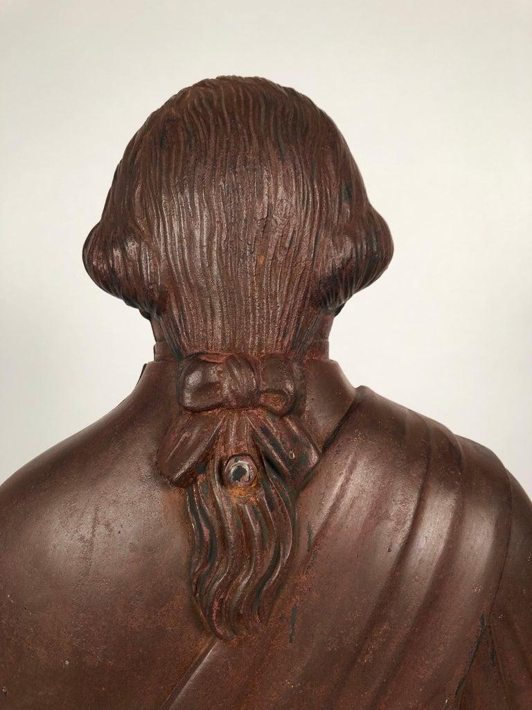 George Washington Cast Iron Stove Figure, circa 1840s For Sale 2