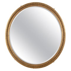 Large 19th Century Gilded Oval Mirror
