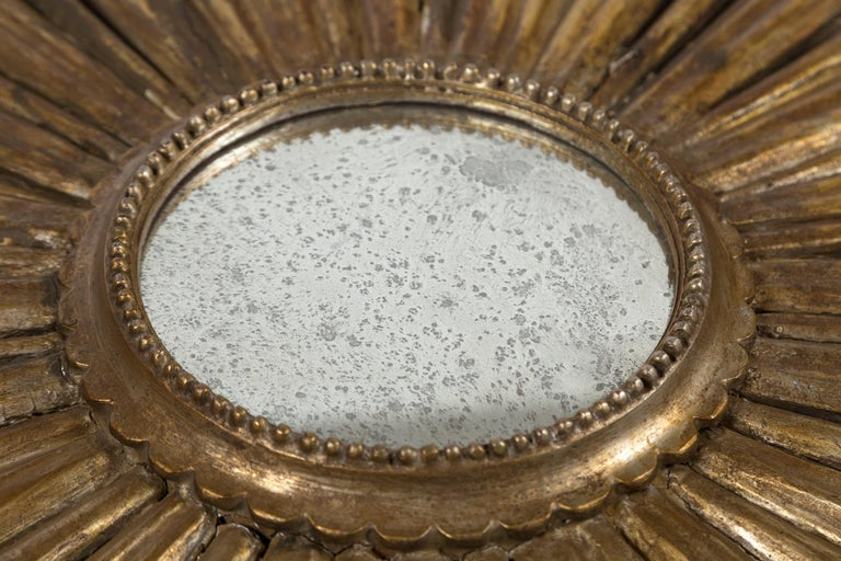 Large 19th Century Giltwood Sunburst Mirror In Good Condition For Sale In Chappaqua, NY