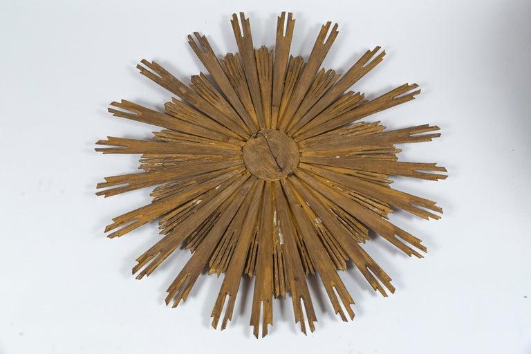 Large 19th Century Giltwood Sunburst Mirror For Sale 3