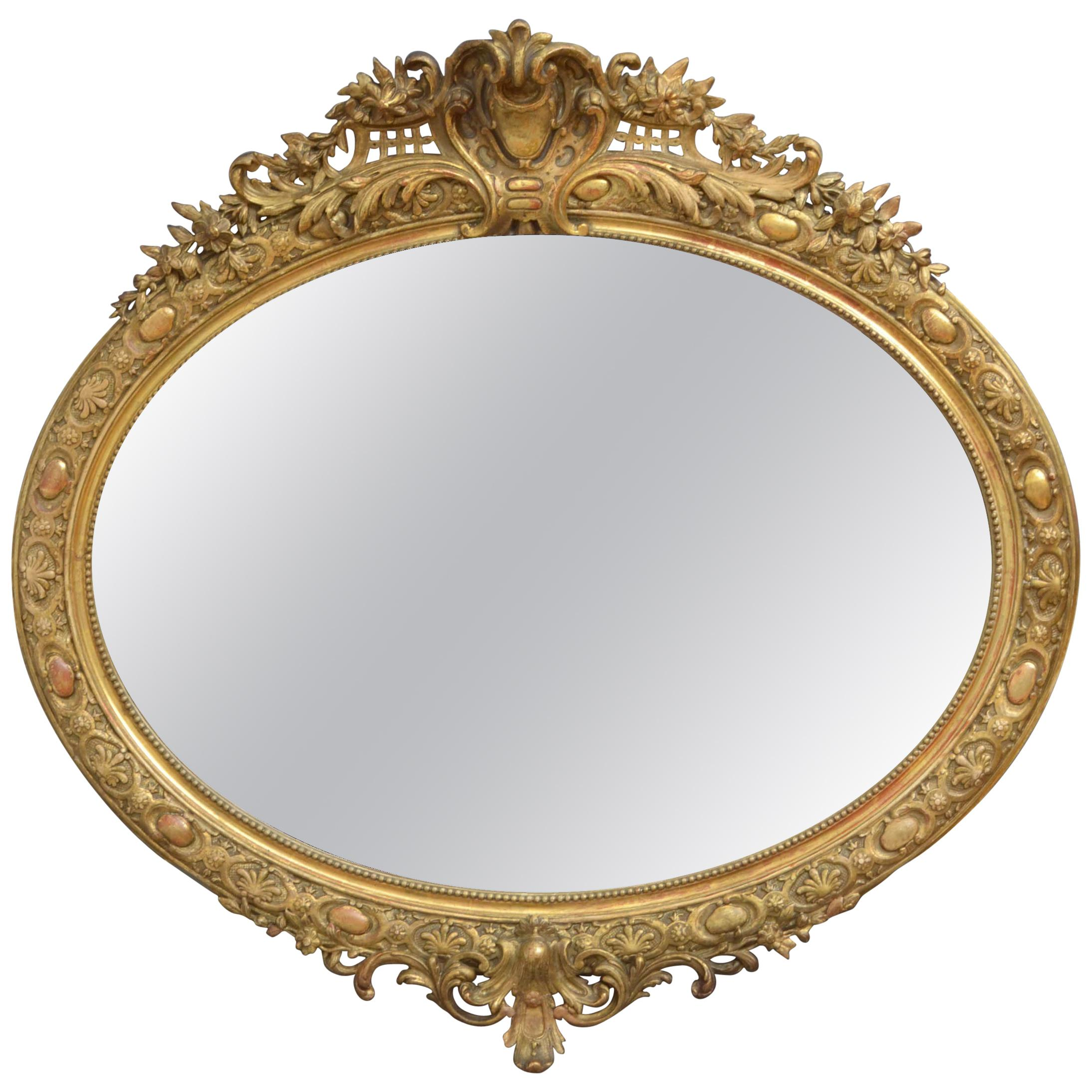 Large 19th Century Giltwood Wall Mirror