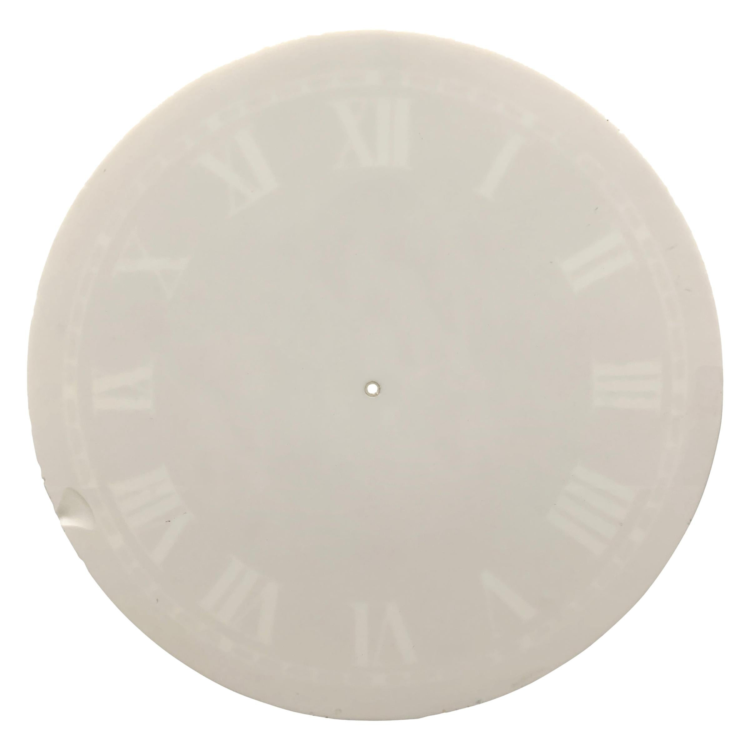 Large 19th Century Glass Clock Face