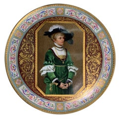 Large 19th Century Hand Painted Viennese Porcelain Charger, Late 19th Century