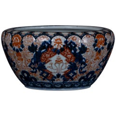 Large 19th Century Imari Porcelain Bowl