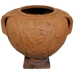 Large 19th Century Italian Art Nouveau Terracotta Urn