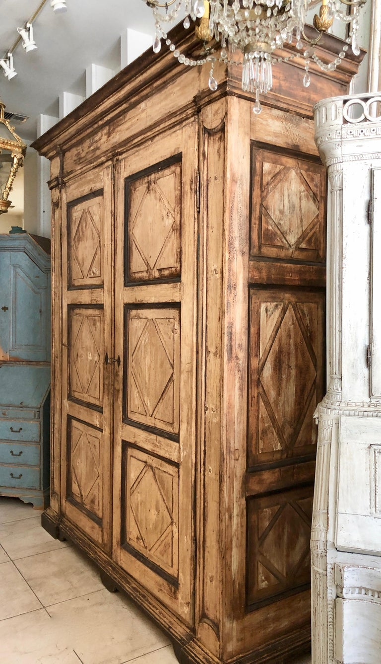 Large 19th Century Italian Cabinet In Good Condition For Sale In Charleston, SC