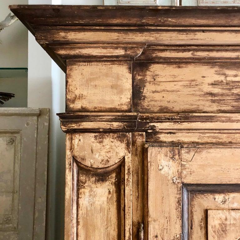 Oak Large 19th Century Italian Cabinet For Sale