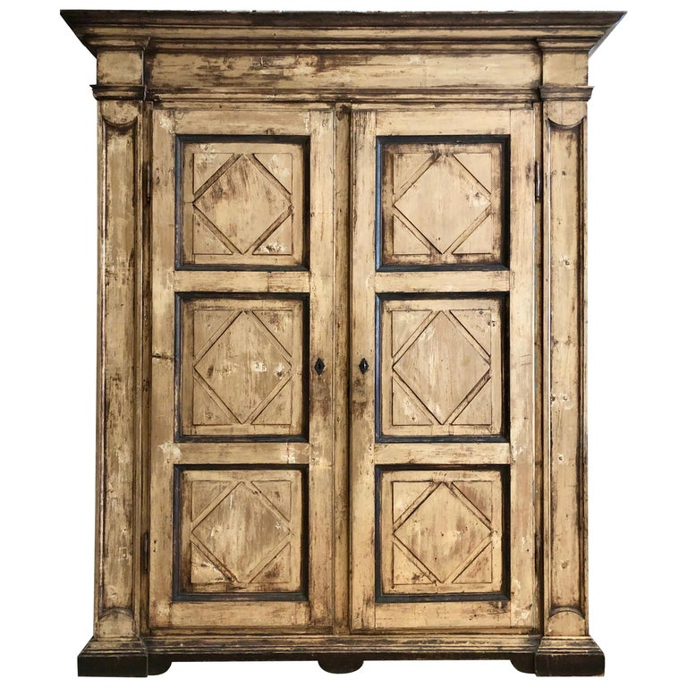 Large 19th Century Italian Cabinet For Sale