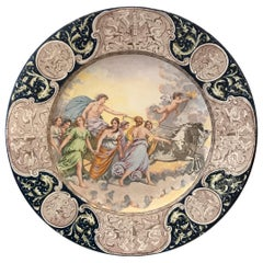 Large 19th Century Italian Faience Allegorical Charger