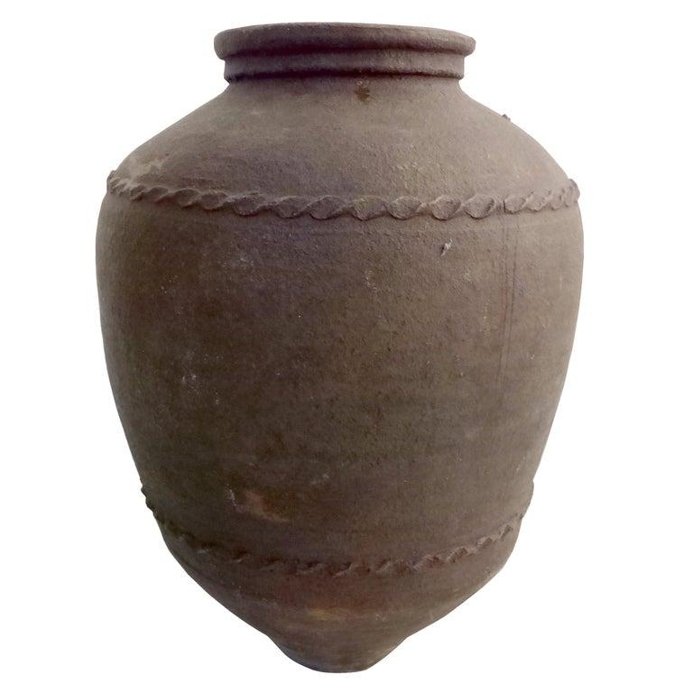 Large 19th Century Italian Terracotta Jar For Sale