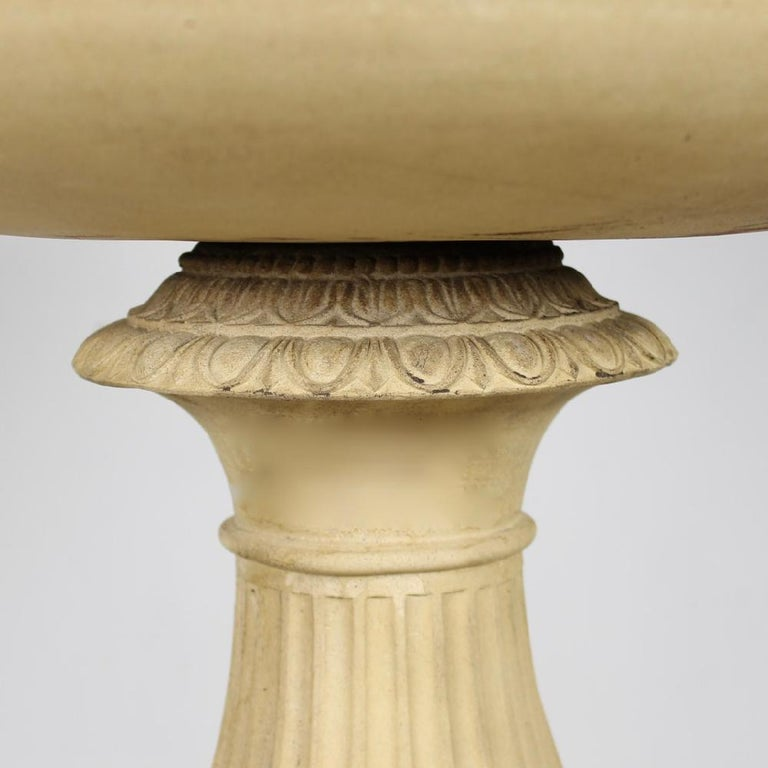 Large 19th Century J M Blashfield Buff Terracotta Garden Tazza Urn on Pedestal For Sale 1