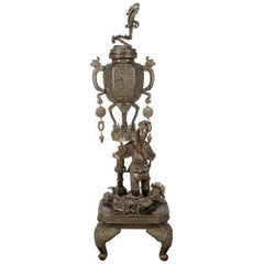 Large 19th Century Japanese Bronze Koro