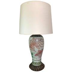Large 19th Century Japanese Imari Vase Lamp