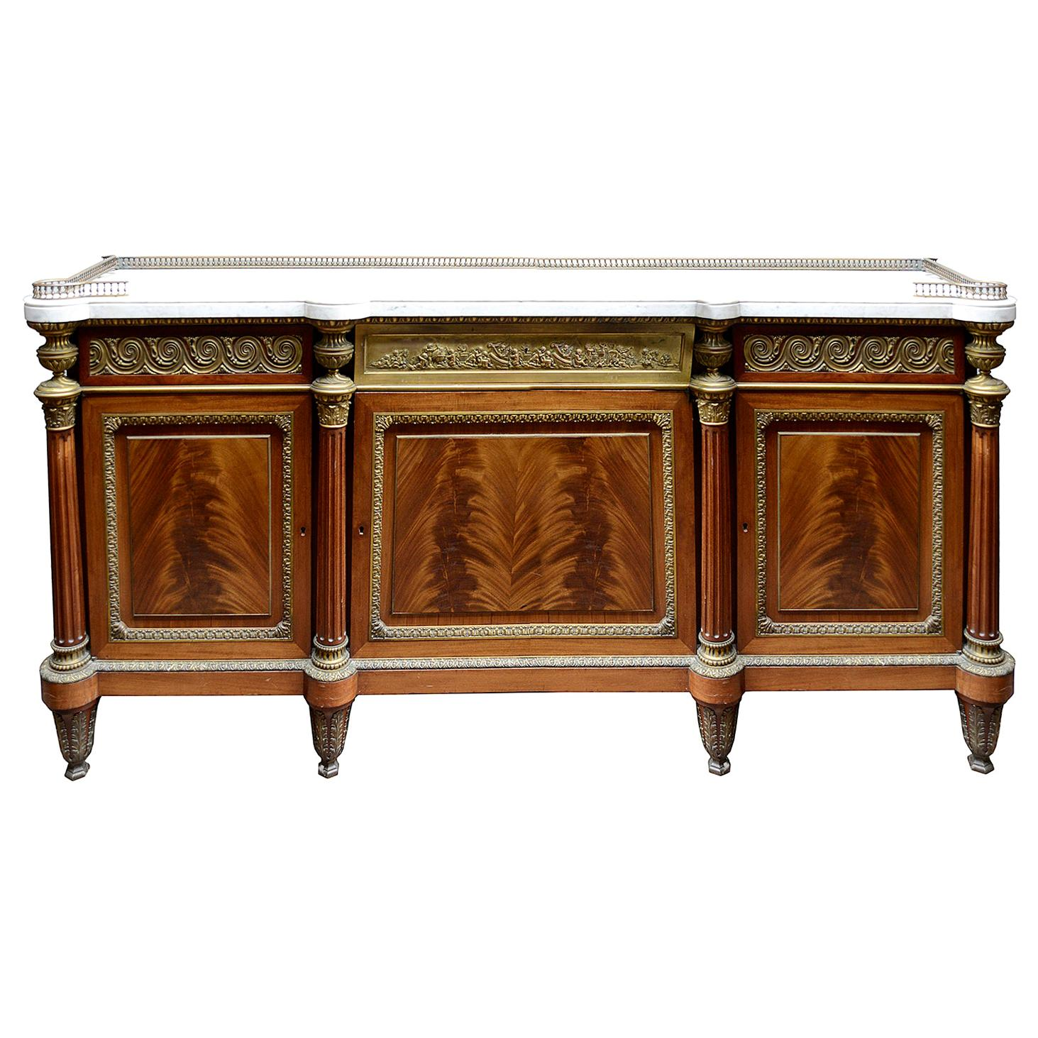 Large 19th Century Louis XV Style Side Cabinet