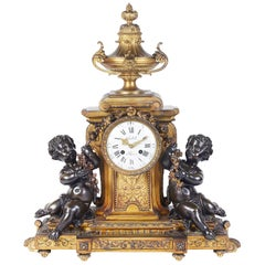 Large 19th Century Louis XVI Style Mantel Clock