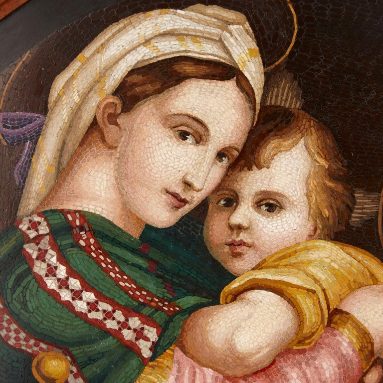 Renaissance Large 19th Century Micro-Mosaic after Raphael's