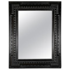 Large 19th Century Mirror with Ebonized Frame in the Dutch Style