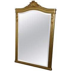 Large 19th Century Napoleon III French Gilt Wall Mirror
