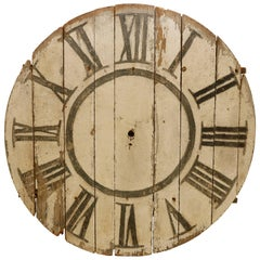 Large 19th Century Painted Clock Face New York State