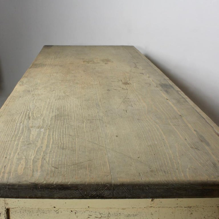 British Large 19th Century Painted Pine Dog Kennel Dresser Base For Sale