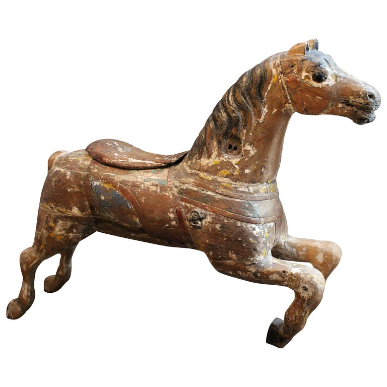 Large 19th Century Parker American Carousel Horse For Sale