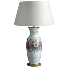 Large 19th Century Porcelain Vase Lamp