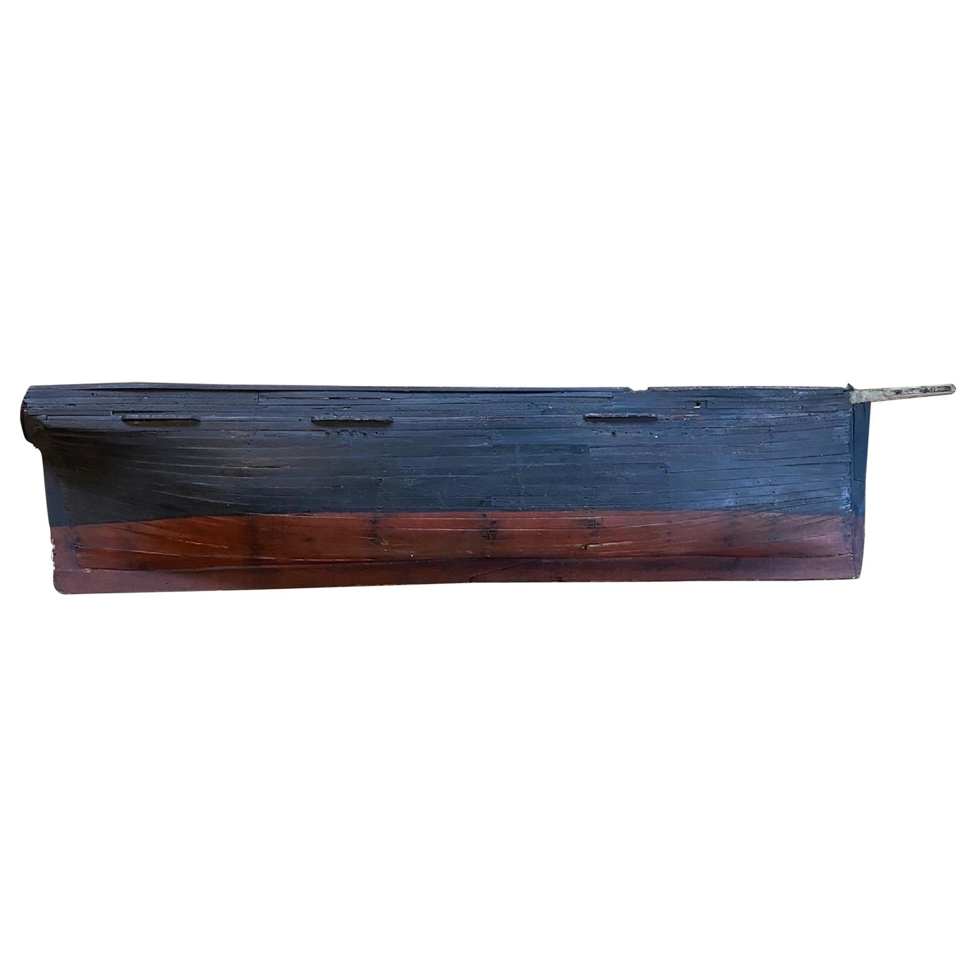 Large 19th Century Presentation Half Hull Model of a Whale Ship